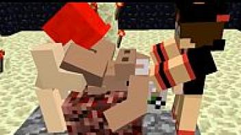 >Minecraft xxx ดูแนวเกมส์มายคราฟโป๊กันบ้าง จากเกมส์เอาตัวละครมาเย็ดกัน ดูได้เลยอย่างเด็ด